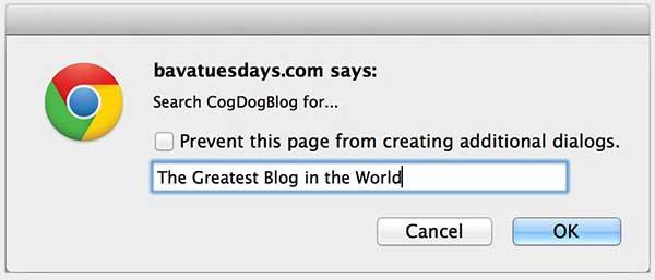 blog search bookmarklet maker